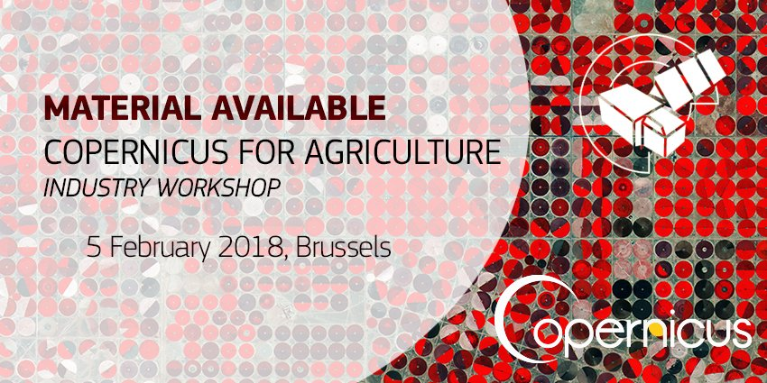 copernicus for agriculture industry workshop copernicus